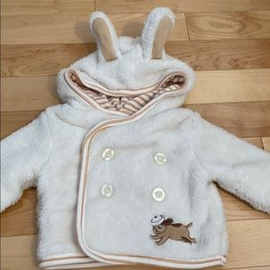 Bunnies by the bay fuzzy sailor jacket 0-3 months